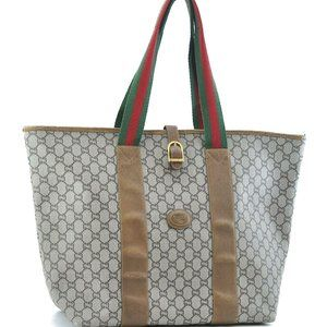 Auth Gucci Sherry Line Gg Tote Travel #N9877C74